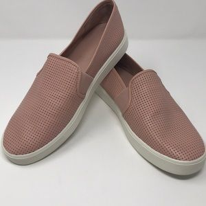 Vince. Perforated Leather Blair Sneaker in Rose